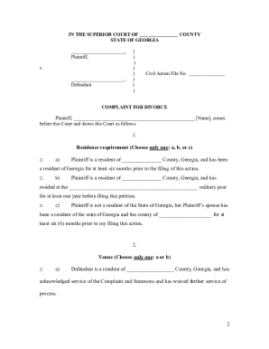 graphic about Printable Divorce Papers for Georgia known as Georgia Criticism Divorce - Fill On-line, Printable, Fillable