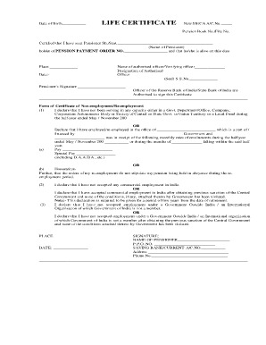 What Is Ss No In Life Certificate - Fill Online, Printable ...