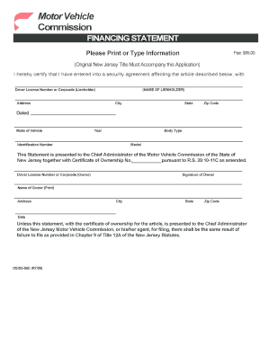 Bill of sale form new jersey lien release form templates fillable procedure to add a lien state of new jersey state nj thecheapjerseys Choice Image