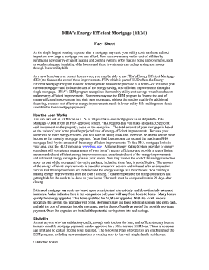 Fha Eem Worksheet Fillable - Fill Online, Printable, Fillable ...