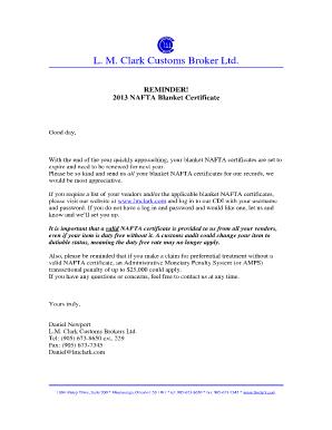 Nafta certificate of origin 2015 form pdf