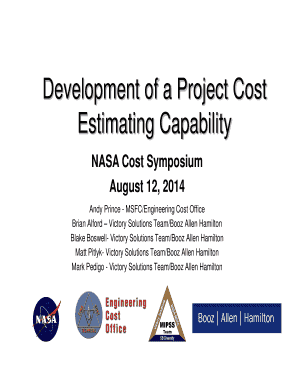 Development of a Project Cost - nasa