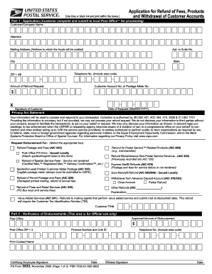 ps form 3533 2006-2018 Form USPS PS 3533 Fill Online, Printable, Fillable, Blank ...