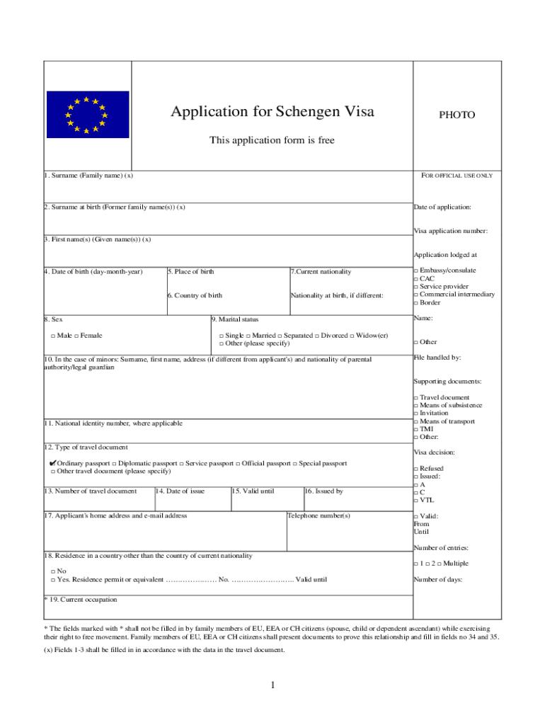 Spanish Visa Application Form Pdf - Fill Online, Printable