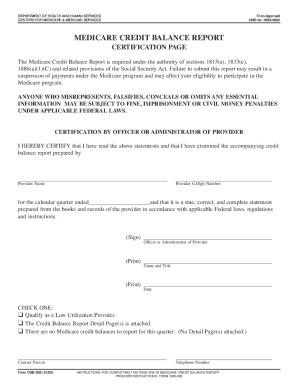 medicare credit balance report Medicare Credit Balance Fill In Form - Fill Online, Printable ...
