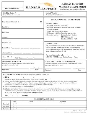 Kansas City Lottery - Fill Online, Printable, Fillable, Blank ...