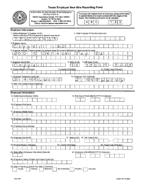 texas new hire reporting form