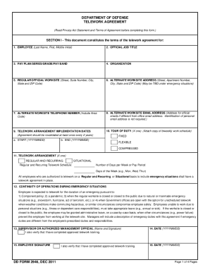 Telework Agreement Template
