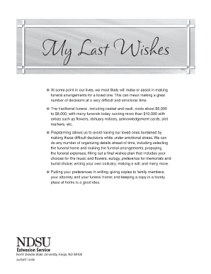 Epic image within printable five wishes pdf