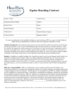Fillable Horse Contracts Fill Online Printable Fillable Blank