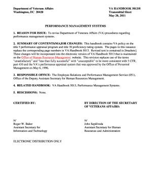 Department Veterans Affairs Employee Handbook