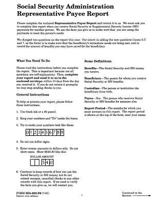 13 Printable social security representative payee form