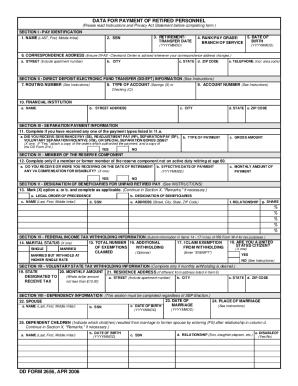 Dd Form 2656 6 Fill Online Printable Fillable Blank Pdffiller