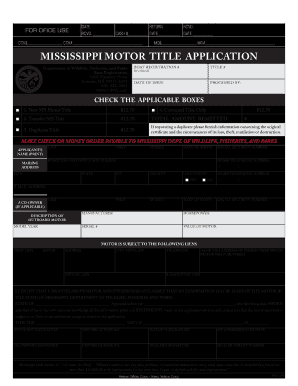 What Is An Application For Certificate Of Title For Mississippi ...