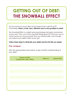 picture about Free Printable Debt Snowball Worksheet known as Fillable cost-free printable financial debt snowball worksheet - Edit