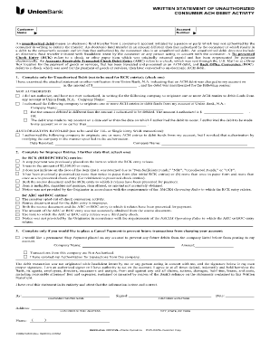 Google Com Bank Of America Unauthorized Ach Return Form For
