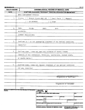 Chronological Record Of Medical Care Us Navy - Fill Online ...