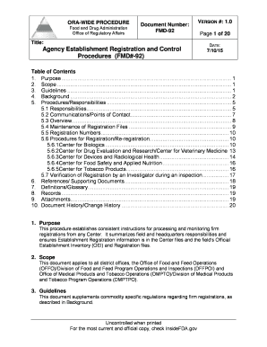 Document Template Use - U.S. Food and Drug Administration - fda