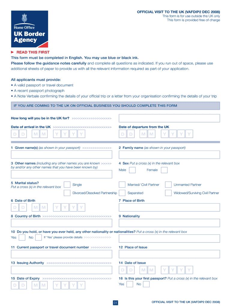 Uk Visa Application Form Fill Online Printable Fillable Blank Pdffiller