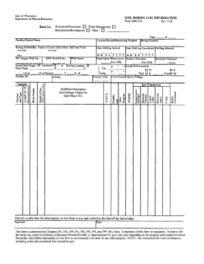Soil Boring Log Template Excel - Fill Online, Printable, Fillable ...