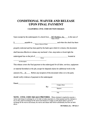 unconditional lien release form pdf