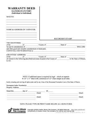 Image Of A Warranty Deed Filled Out - Fill Online, Printable ...