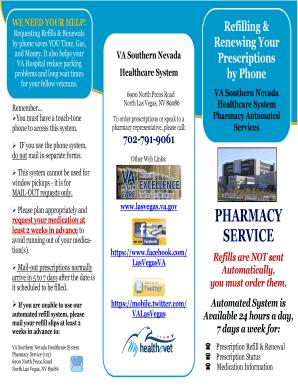 Fillable Online lasvegas va VA Pharmacy Service Automated