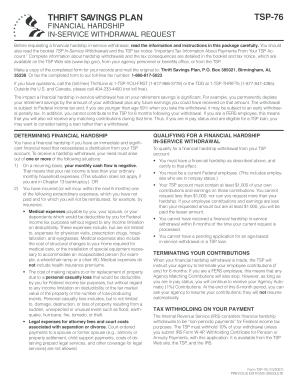 2007 Form TSP-76 Fill Online, Printable, Fillable, Blank - PDFfiller