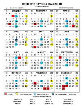 Ucsd Calendar 2013   Fill Online, Printable, Fillable, Blank