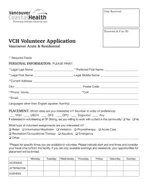 Fillable online blank army promotion packet composition form pdf vch volunteer application vancouver coastal health fandeluxe Images