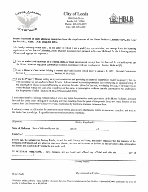 Contract Sworn Statement  Affidavit Of Sworn Statement