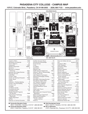 PCC Campus Map - Pasadena City College Fill Online, Printable ...