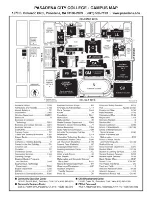 PCC Campus Map - Pasadena City College Fill Online, Printable ...