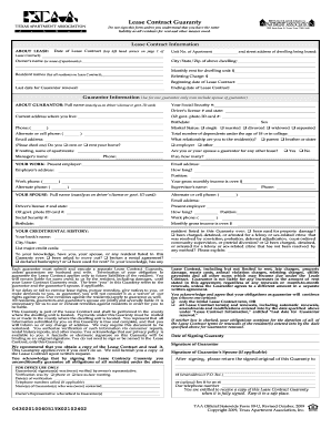 Texas Apartment Lease Agreement