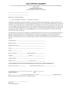 Submit Printable Personal Guarantee Of Commercial Lease Form