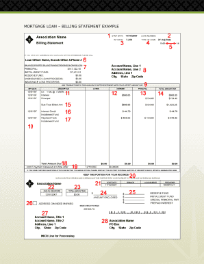 mortgage statement template Mortgage Statement Example - Fill Online, Printable, Fillable, Blank ...