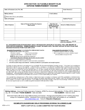 American Fidelity Reimbursement Voucher Fsa - Fill Online ...