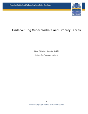 Underwriting Supermarkets and Grocery Stores - CDFI Fund - cdfifund