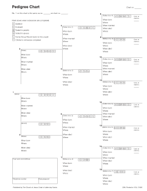 pedigree chart lab form