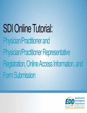 sdi physician form