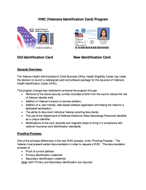 VHIC Veterans Identification Card Program Old Identification Card - roseburg va