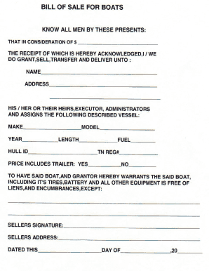 Download: Bill Of Sale For Boats  Printable Bill Of Sale For Boat