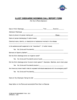 d - IDDE Incoming Phone Call Report Form and Hotline Flowchartdoc