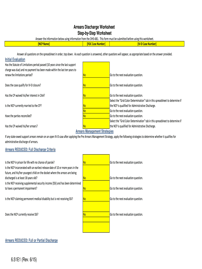 Arrears Discharge - Fill Online, Printable, Fillable, Blank ...