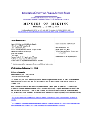 ISPAB Meeting Minutes February 11-13-2015 Approved - csrc nist