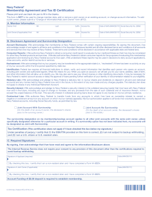 membershipagreement and tax id certification navy federal form