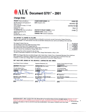 aia document g701
