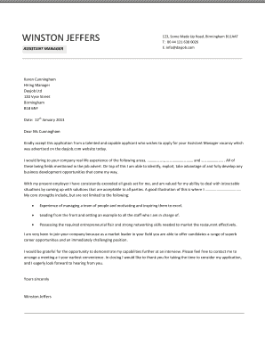 office manager cover letter templates