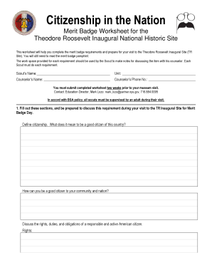 Citizenship In The Nation Merit Badge Worksheet Kidz Activities