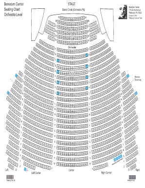 Benedum seating chart fill online printable fillable blank